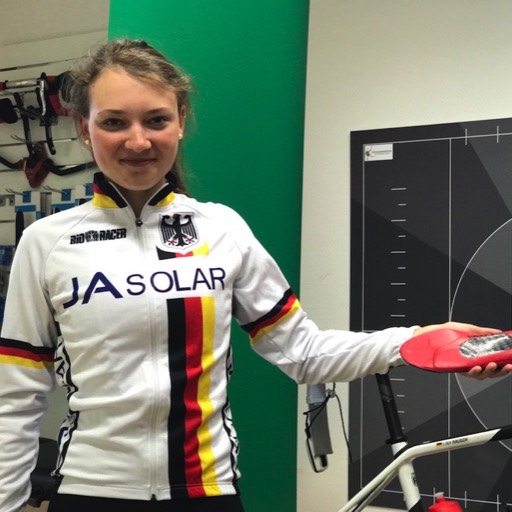 Lina Rausch Landesmeisterin Cross in der Bike Academy Berlin.